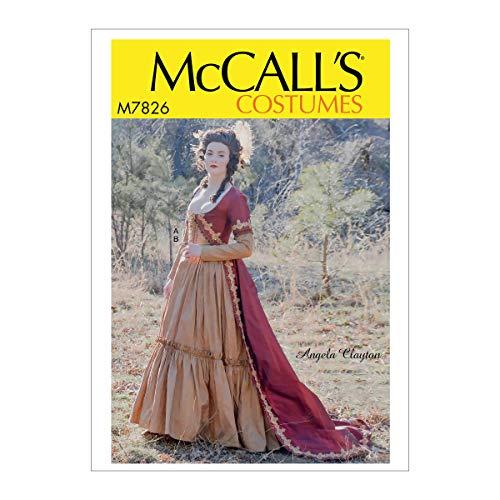 McCall's Patterns McCall's Schnittmuster für Damen, viktorianisches Kleid von Angela Clayton, Größen 42-50