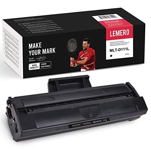 1 tóner Lemero compatible con Samsung MLT-D111L MLTD111L MLT-D111S 111l Negro para Samsung Xpress SL-M2070W M2026W M2070 M2026 M2070FW M2020 M2022W M2020W M2022
