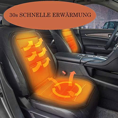 Kaltes Wasser Sitzheizung Auto Auflage Zigarettenanzünder Sitzauflage Auto Heizung Set 12v Universal Beheizbar Heizkissen (Schwarz)