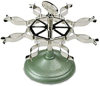 Cosco 086102 Revolving Caster Stamp Rack with Spring Clips, 8-Stamp Capacity, Chrome