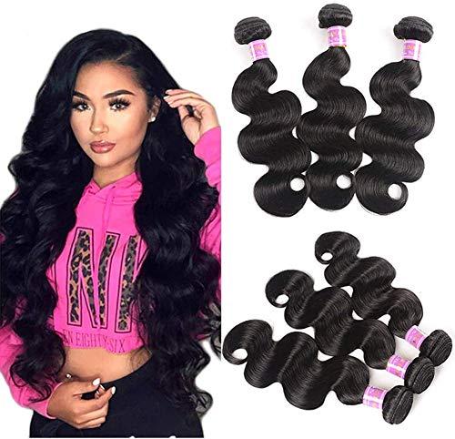 ZRSH 9A Brazilian Body Wave Human Hair Cheveux Naturel Brésilienne Bouclé Cheveux Bresilien Tissage 1 Faisceaux de Cheveux Humain Tissage Bresilien 8-30 Pouces,20inch