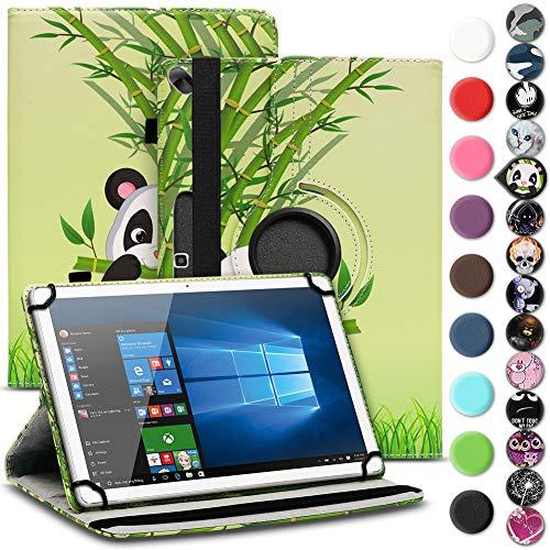 Tablet Schutz Hülle für Lenovo Miix 320 310 300 Tasche aus hochwertigem Kunstleder mit Standfunktion 360° Drehbar Cover Case, Farben:Motiv 11