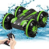 Amphibious RC Car for Kids Toys for 5-12 Year Old Boys 2.4 GHz Remote Control Boat Waterproof RC Monster Truck Stunt Car 4WD Remote Control Vehicle Teens Adults Gifts All Terrain Water Beach Pool Toy