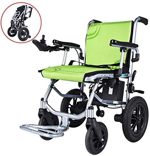 Gpzj 2020 Nuevas sillas de Ruedas eléctricas motorizadas Plegables, Silla Zinger, Silla de Ruedas eléctrica Plegable Plegable y compacta, Silla de Ruedas motorizada Potente,