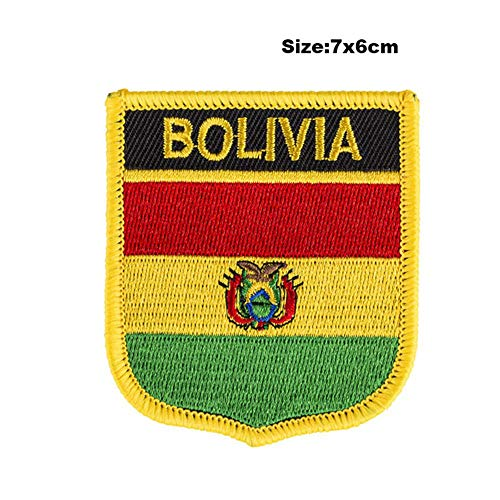 Soode Bolivia Vlag patches geborduurde vlag patches nationale vlag patches voor Cothing DIY Decoratie PT0040-S