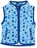 Schnizler Unisex Baby Weste, Fleeceweste Sterne, Blau (Blau 7), 74