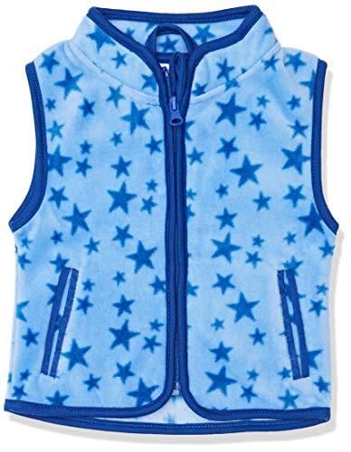 Schnizler Schnizler Unisex Baby Weste, Fleeceweste Sterne, Blau (Blau 7), 74