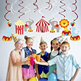 Bdecoll 30 Stück Swirl Dekorationen - Zirkus Geburtstag Dekorationen, Decken Streamer