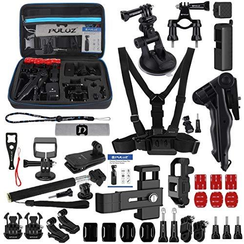 WXX 43 in 1 Zubehör Gesamt ultimative Combo Kits for DJI Osmo Tasche mit EVA-Fall (Brustgurt + Handschlaufe + Saugnapfhalterung + 3-Wegen Schwenkarm + J-Haken-Wölbung + Grip Stativbefestigung + Oberfl
