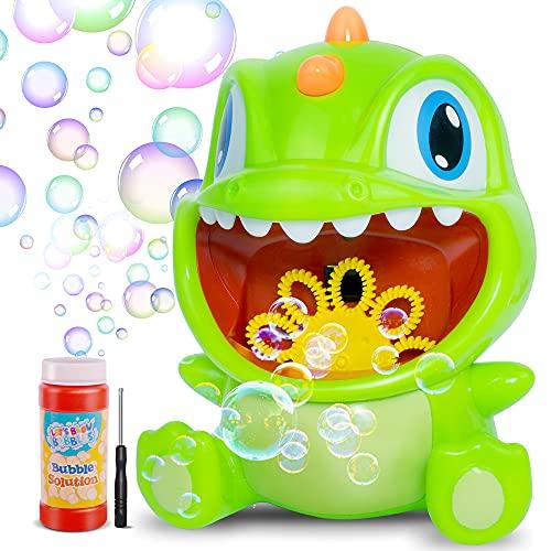Desuccus Bubble Machine, Dinosaur Automatic Bubble Maker 1000+ Per Minute, Bubble Blower fo…