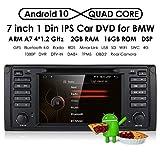 hizpo Reproductor de DVD estéreo para coche con radio Dash de 7 pulgadas, Android 9.0, navegador GPS para coche, Bluetooth, 4G, WiFi, OBD2, DAB+, DTV, 1080P, para BMW E39, E38, M5, X5, Serie 5