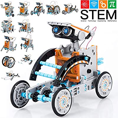 GARUNK STEM Solar Robot Kit 12 in 1 Educational STEM Learning Science Building Toys for Kids Teens and Science Lovers Age 10 11 12+ Years Old Boys and Girls, Creative Games & Fun Activity