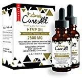 Powerful Hemp Oil Tincture- 2500mg, Organic Hemp Oil for Anxiety, Pain & Stress Relief, Provides Quality Sleep, Natural Dietary Supplement, Rich in Omega 3-6-9, Grown & Made in USA (Pack of 2)