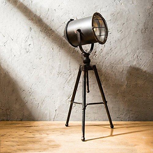 KMYX Retro Hierro Spotlight Estilo Industrial lámparas de Mesa Hacen de Edad Loft Creative Window Wine Cabinet Decorative Props Cafe (con la batería, no Contiene la batería)