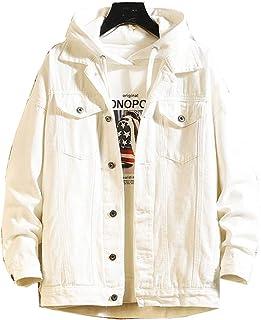 Tebreux Men's Jeans Coat Button Down Denim Jacket Casual Trucker Jacket Outerwear