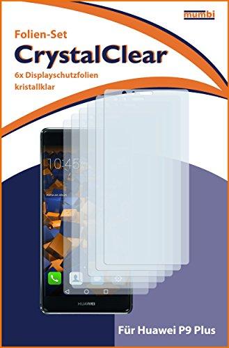 mumbi Schutzfolie kompatibel mit Huawei P9 Plus Folie klar, Displayschutzfolie (6X) - 3