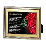 Birthday, Anniversary or Christmas Gift for Wife, Husband, Girlfriend or Boyfriend - Love of My Life Poem