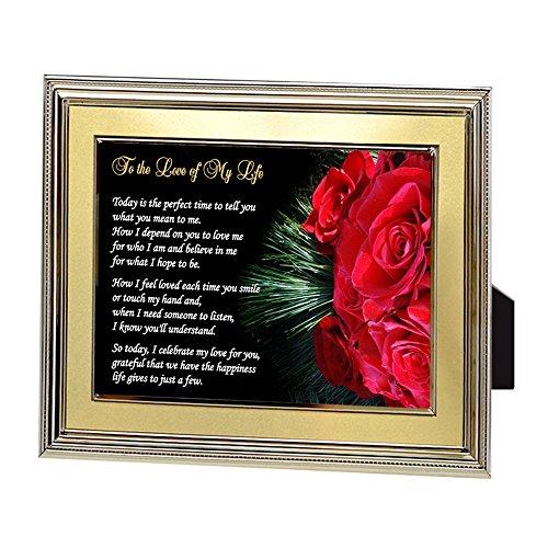 Regalo de cumpleaños, Navidad o aniversario para esposa, marido, novia o novio - Poema del amor de mi vida