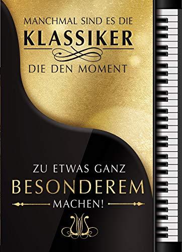 bentino Geburtstagskarte XL mit Musik, DIN A4 Set mit Umschlag, spielt Mozarts