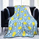 Dujiea Cute Baby Rubber Ducks Flannel Fleece Throw Blanket 50'x60', Living Room/Bedroom/Sofa Couch Warm Soft Bed Blanket for Girls Boys Adults All Season Ultra Soft