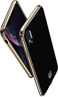 【Spigen x LA MANON】 iPhone XR ケース 6.1インチ 対応 軽量 薄型 光沢 艶 おしゃれ シック デザイン Qi充電 ワイヤレス充電 エテュイ 064CS25311 (ゴールド ・ブラック)