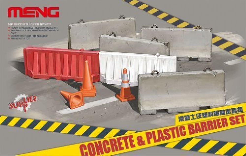 Meng Model 1 35 Concrete and Plastic Barrier Set (SS012) by Meng Models