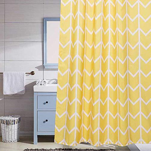 Vorhang gelb gestreiftes Badezimmer Wasserdichtes, schimmelresistentes und Dickes Trennwand-Vorhang-Badezimmer