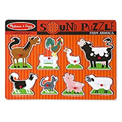 melissa & Doug farm animals puzzle game with sounds