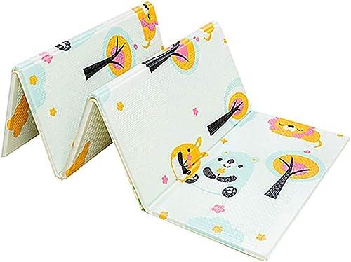 Huayao Les Enfants Jouent Tapis Pliant Puzzle playmat Jeu Pad pour Les Nourrissons Mousse Rampant Tapis Pack et Jouer Matelas,A,150  200  1Cm