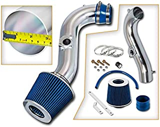 Rtunes Racing Short Ram Air Intake Kit + Filter Combo BLUE Compatible For 00-05 Lexus IS300 …