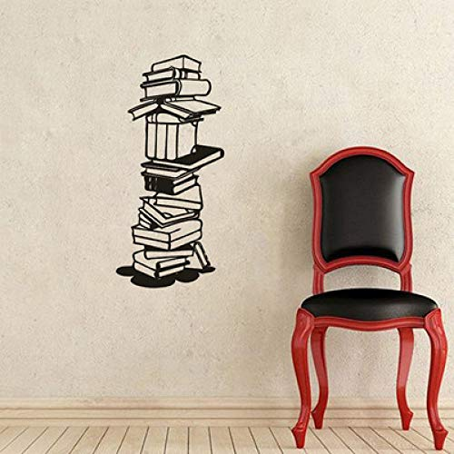 JXLLCD creatieve studenten lezen boeken patroon wandtattoo decoratie boekhandel bibliotheek zelfklevende afneembare muursticker 57 * 26 cm