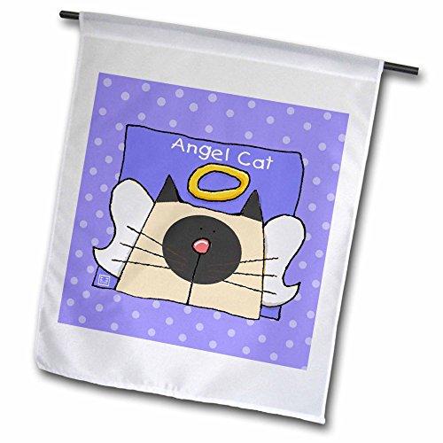 3dRose FL 36664Steckdose 1Engel Siamesische Katze Cute Cartoon Pet Verlust Memorial Garden Flagge, 12von 18