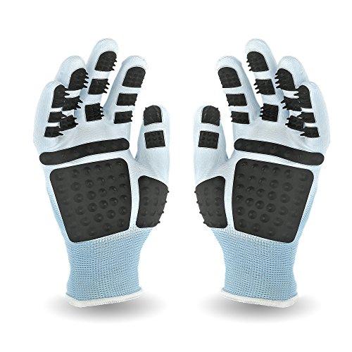PEGACARE Fellpflege Handschuhe S,M,L,XL-optimale Tierpflege für Pferde, Hunde und Katzen. Die durchdachte Alternative zur Tierhaar Bürste. 1 Paar. Genieße das Kuscheln mit Deinem Vierbeiner!