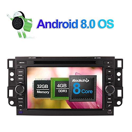 Android 8.0 Autoradio Stereo 4GB RAM GPS Navigation für Chevrolet Epica/Captiva/Lova 2006-2011 mit 7 Zoll Bildschirm Unterstützung DVD Multimedia Player Bluetooth FM AM RDS WLAN Kamera Eingang