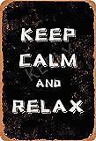 None Branded Keep Calm And Relax Targa in Metallo Manifesto Segnale di Avvertimento retrò Poster Vintage per Camera da Letto Famiglia Porta in Alluminio Art Décor