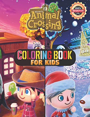 Coloring Book for kids: +60 Premium animal crossing Coloring Pages For Kids And Adults. Animal crossing Coloring Book High Quality. Enjoy Drawing And Coloring Them As You Want!