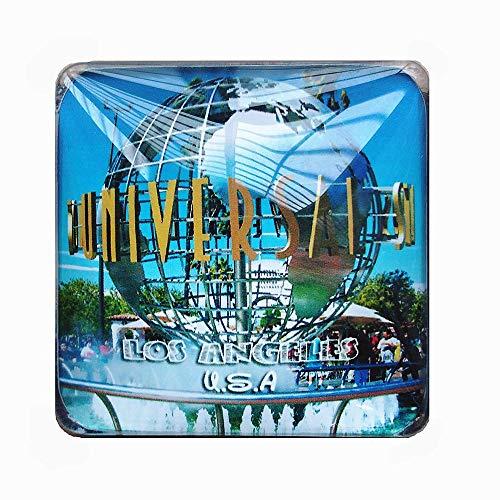 Aimant de réfrigérateur universel 3D Studios of Los Angeles USA - Cadeau souvenir - Décoration de maison et de cuisine - Collection d'aimants de réfrigérateur américains