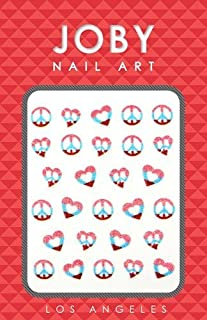 Nail Sticker/ Nail art - Glitter Collection - Peace Signs