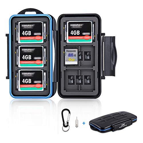 36 Slots SD Card Case Micro SD Card Case CF Card Holder Memory Card Holder Storage for 18 Micro SD Card, 12 SD SDXC SDHC Card, 6 CF Card