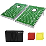 Go Pong CornHole Bean Bag Toss Game Set, Football Edition