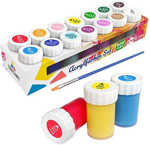 Set de pinturas acrílicas Tritart para niños y adultos I 14 colores acrílicos