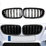 Snow-Day Noir Ailerons Jumeaux À Grille Avant pour BMW Berline F10 F11 F18 M5 2010-2016