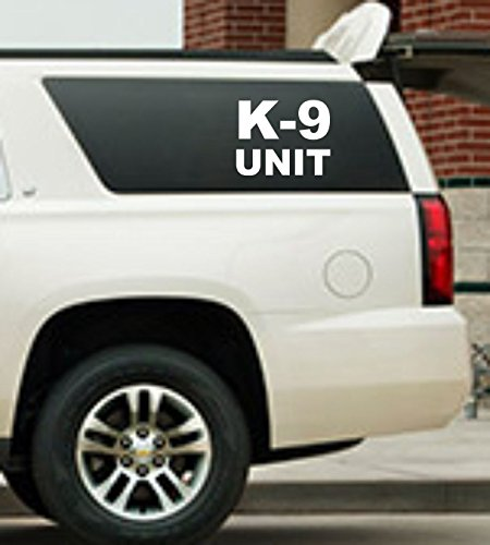 Reflective K-9 Unit Decal Set Police Dog white Sticker Police Car Truck Van SUV