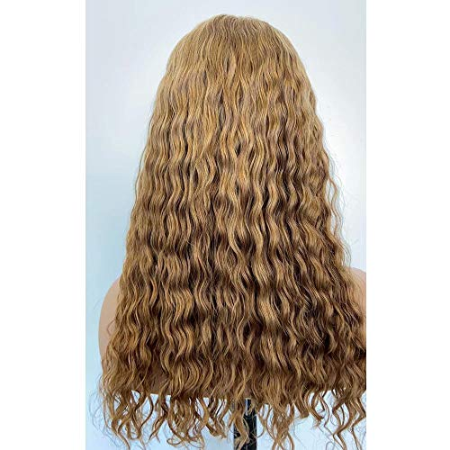 JNM Hair Brazilian Jerry Curly Ombre Blonde Color Human Hair Lace Wigs 13×6 Lace Front Wig 150% Density with Baby Hair Glueless Human Hair Wigs 16Inch