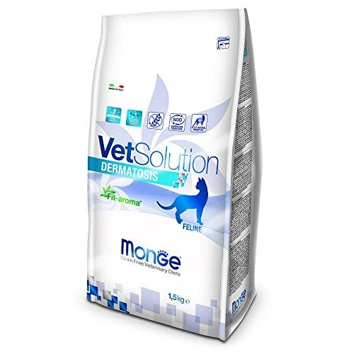 Monge Veterinary Solution Gatto Dermatosis kg. 1,5 Cibo Gatti, Multicolore, Unica