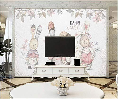 Nordische saubere Puppe, Stoffpuppe, gewöhnliche TV-Hintergrundwand - ca. 250 * 175 cm 2 Streifen