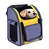HAPPY HACHI Dog Backpack Carrier for Small Dog Rucksack Puppy Rabbit Cat Carrier Outdoor Airline Approved Bag...