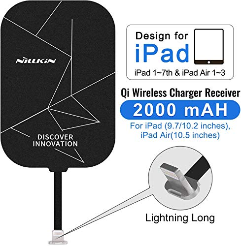 Nillkin Fast 2000mAh Wireless Charging Receiver Magic Tag Qi Wireless Charger Receiver Pad Patch Module Chip Compatible with ipad 2/3/4/5/6/7th 9.7 inch,ipad Air/Air 2/3th,ipad pro 10.5