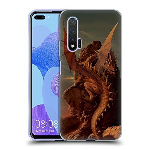 Officiële Vincent Hie Aarde En Vuur Draken Soft Gel Case Compatibel voor Huawei Nova 6 5G