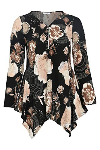 PAPRIKA Damen große Größen Tunika-T-Shirt aus warmem Material mit Rubberprint...